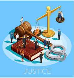 System of justice concept vector