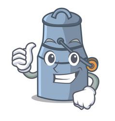 thumbs up milk can character cartoon vector image