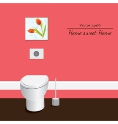 Toilet 3d Red background vector