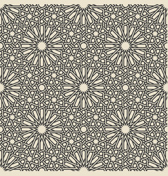 traditional arabic islamic geometric seamless vector image