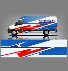 van car wrap design for company vector image