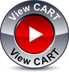 View cart round button vector