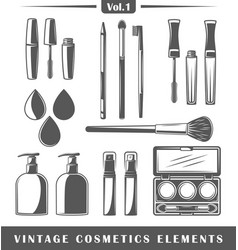 Vintage cosmetics elements vector