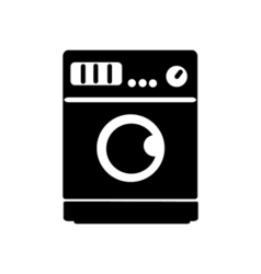 Washing machine icon Flat design vector image