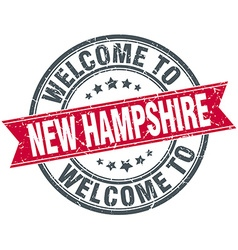 Welcome to new hampshire red round vintage stamp vector