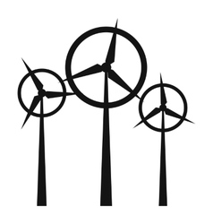 Wind turbine simple icon vector
