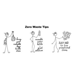 Zero waste tips vector