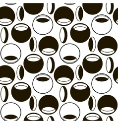 Black and white pattern of circles and ovals vector image vector image