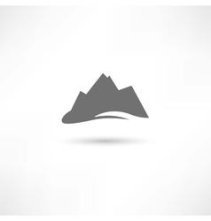 grey mountains symbol vector image