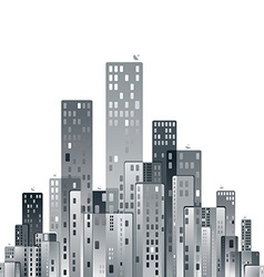 Modern city panorama vector image