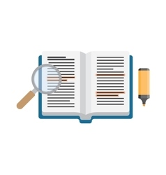 Open book studying vector image