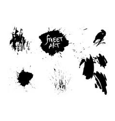 set of street art elements background vector image