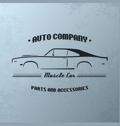 vintage muscle car company logo design vector image vector image