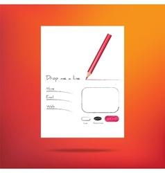 web form for feedback vector image vector image