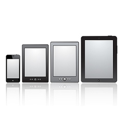 Set of realistic tablets with blank screen vector