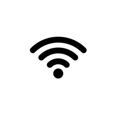 wifi icon in flat style wireless symbol vector image vector image
