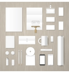 Corporate identity mock up vector image vector image
