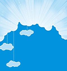 cut sky cloud cyan vector image