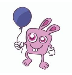 Rabbit and balloon cartoon design vector