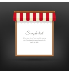 Store striped awning vector image vector image