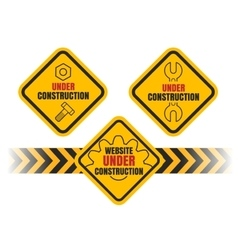Under Construction set vector image