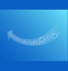 arrow bubble foam vector image vector image
