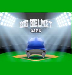 Background night baseball stadium vector image