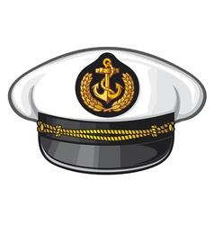 captain cap vector image