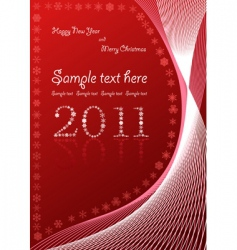 Christmas abstract red background vector image