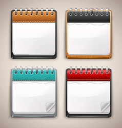 Collection of Calendar Icons vector image vector image
