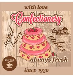 Confectionery dessert menu vector