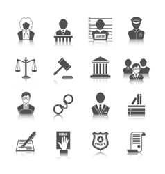 Law and Justice Icons Set vector image vector image