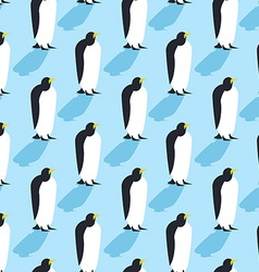 Penguins seamless pattern Arctic animals texture vector image vector image