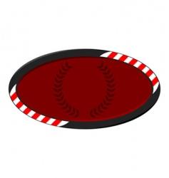race badge vector image vector image