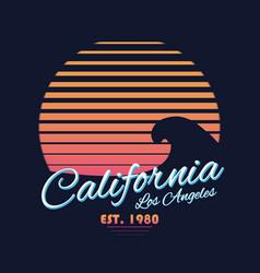 80s style vintage california typography retro vector