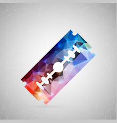 abstract creative concept icon of razor vector image
