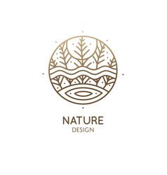 Abstract sacred symbol nature logo vector