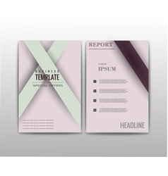 abstract set of business card print template vector image