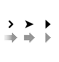 arrows icons set of web and dots arrows vector image