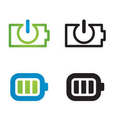 battery icon set image vector image