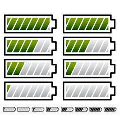 Battery level indicator symbols battery symbols vector