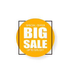 big sale inscription sign vector image
