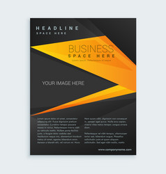 black and yellow business brochure presentation vector image vector image