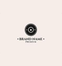 Bullet head stamp logo design template vector