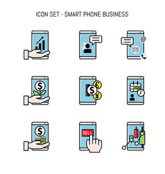 Business icon collection set flat lay vector