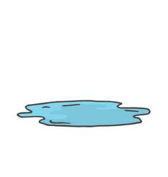 Cartoon color doodle wet puddle vector