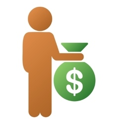 Child investor gradient icon vector