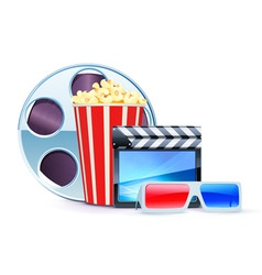 cinema design elements vector image