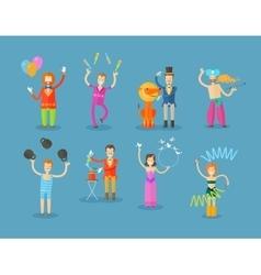 circus logo design template clown vector image