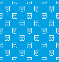 coat of arms of sweden pattern seamless blue vector image
